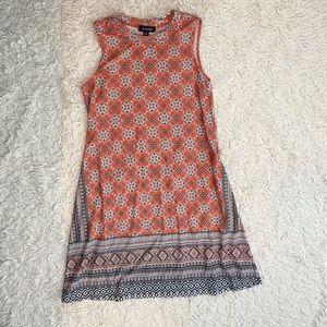 Amy Byer Coral Print Mini Dress Size Medium